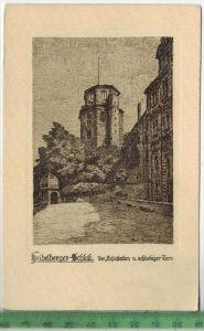 Heidelberger-Schloß. Der Schloßaltan u. achteckiger Turm