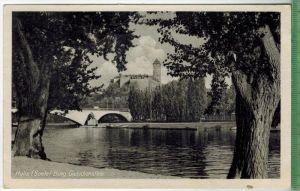 Halle(Saale) Burg Giebichenstein 1952Verlag:  ------------, Postkartemit  Frankatur, mit Stempel, 1952Erhaltung: I-II, K