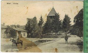 Woel Kirche 1917Verlag:  --------,FELD- Postkarte ohne Frankatur, ohne Stempel, 10.02.1917 Karte Fleckig, Erhaltung: II-