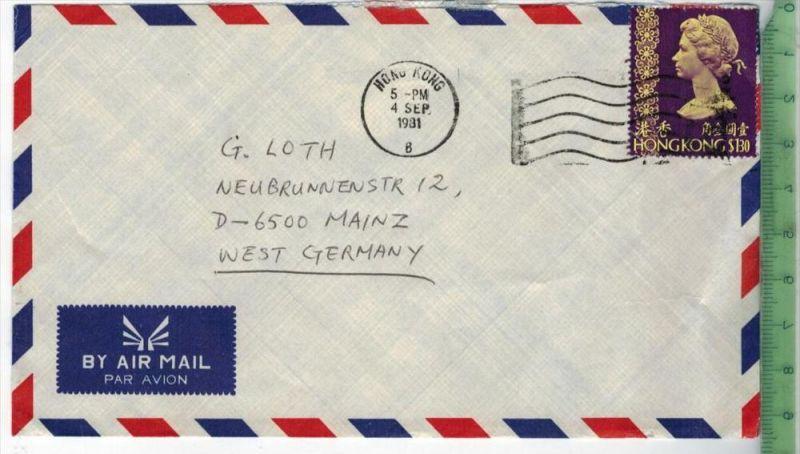 Hong Kong, EF, HONGKONG$130 auf Luftbriefgest.  1981Zustand: Gut