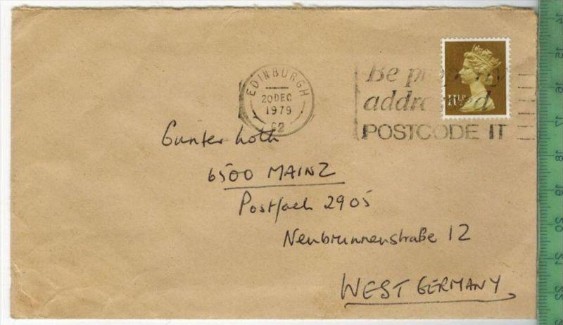 Brief EF. Stempel, Edinbourgh 20. DEC. 1979