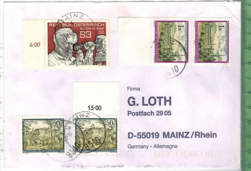 Brief MiF. Stempel, Stainz.  19. 8. 1984