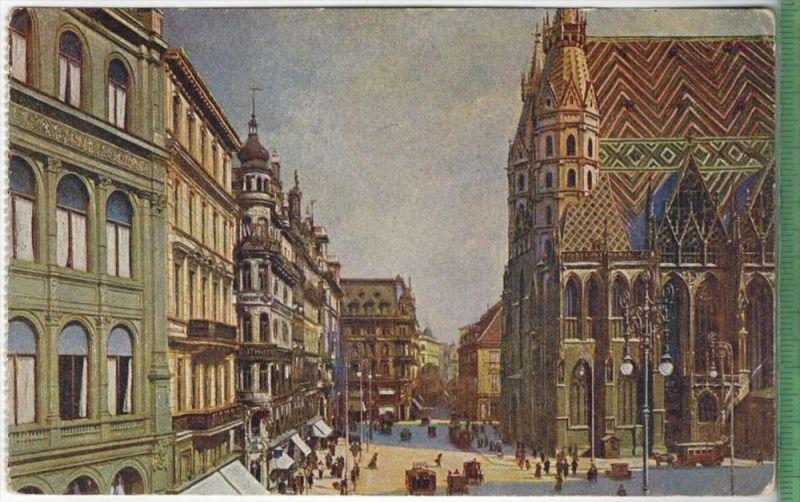 Wien, Stephansplatz, Verlag: ,  – Postkarteunbenutzte Karte,Rückseite beschriebenMaße: 14 x 9 cmErhaltung:I-II, Ka