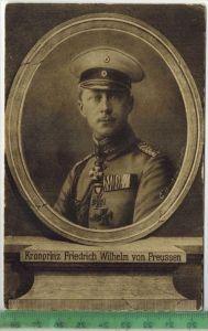 Kronprinz Friedrich Wilhelm von Preussen, WohfahrtskarteVerlag: ,  – Postkarteunbenutzte Karten,Maße:14 x 9 cm. Er