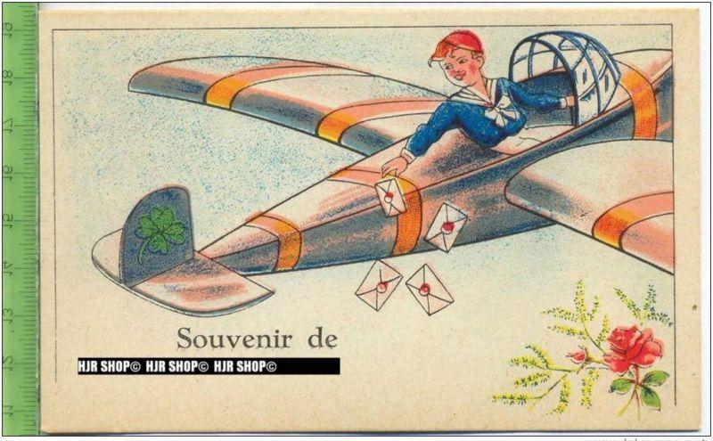 """""""Souvenir de"""" um 1950/1960 Ansichtskarte, ungebrauchte Karte"""