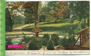 Cupid`s Fontain, Elizabeth Park, Hrtford, Conn. Gel. 15.06.1909 / Hartford.Conn.