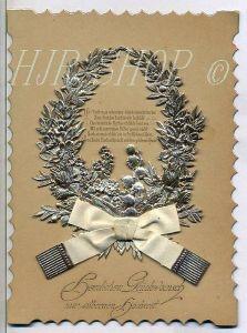 Hochwertige Glückwunschkarte zur Silberhochzeit, aus dem Jahre 1894