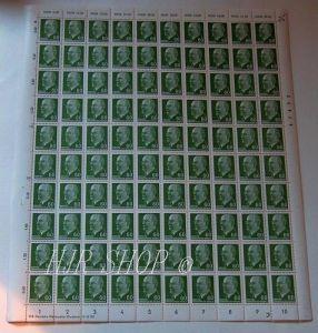 Bogen Postwertzeichen zu 60 Pf, 1956 Walter Ulbricht in grün
