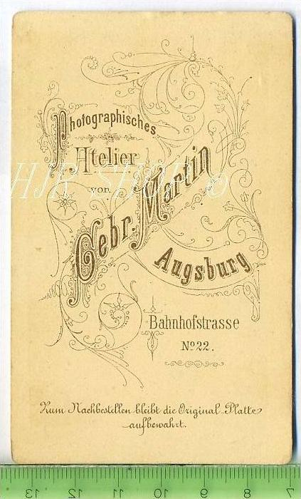 Gebr. Martin, Augsburg vor 1900 kl. Format, s/w., I-II, 1