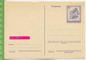 Postkarte, Republik Österreich  Österreich 3S blau, 1974