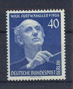 1955, 17. Sept. 1. Todestag von Wilhelm Furtwängler, 128**, M€ 24,--