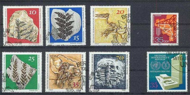 1973, Satz Paläontologische Sammlungen 6 W 1822-27gest., 1xEnergiesysteme 1871 gest., 1xUNO 1883 gest.