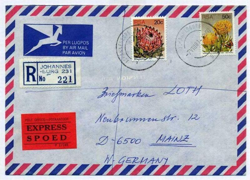 R- Brief, 07.08.1981, Johannesburg – Mainz,