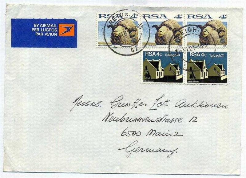 Luftpost-Brief, 30.06.1981, Pretoria – Mainz, 0