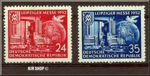 1952, 7. Sept. Leipziger Herbstmesse.Minr. 315,316**