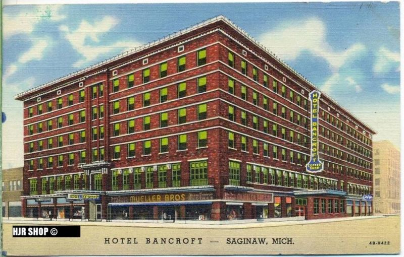 "um 1940/1950 Ansichtskarte ""Hotel Bancroft"",  gelaufene Karte"