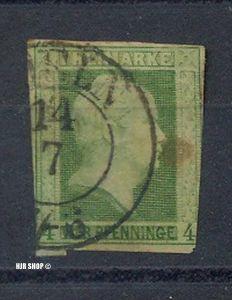 1858, Juli. König Friedrich Wilhelm IV. (III) MiNr. 9 gest.  Guter Zustand