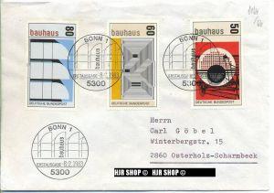 1983,Satz 3 W, Bauhaus, Minr.1164,1165,1166 gest.