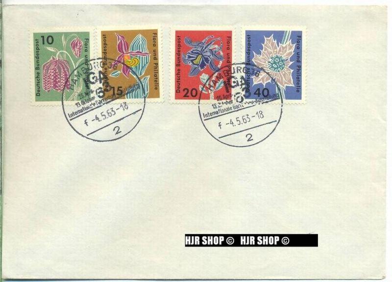 1963,Satz 4 W, IGA, Minr.392,393,394,395 gest.