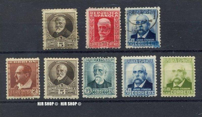 1931Berühmte Spanier II, 617,618,620,624,626** und 618,624 gest. und 623IA gest.