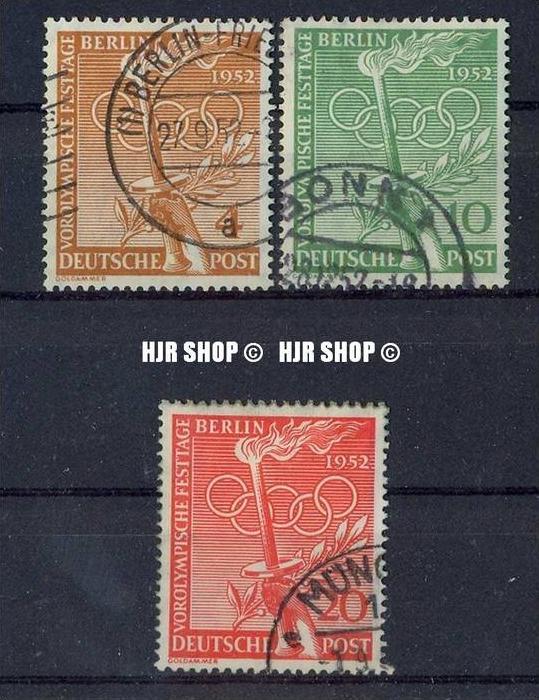 1952, Vorolympische Festtage, Minr. 88-90 gest. Satz 3 W