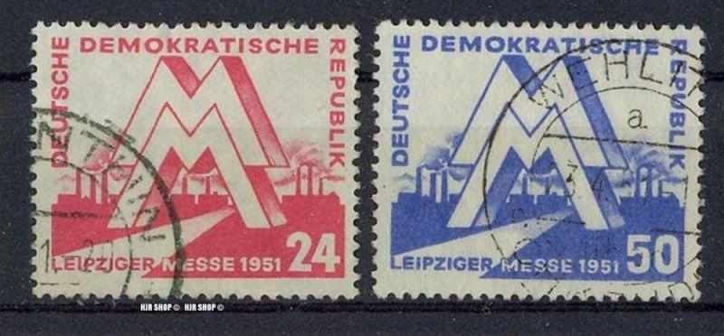 1951, Leipziger Früjahrsmesse, MiNr. 282+283 gest. Satz 2W