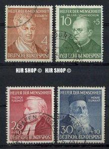 1952,Wohlfahrt (III), MiNr156-159 gest. Satz 4 W