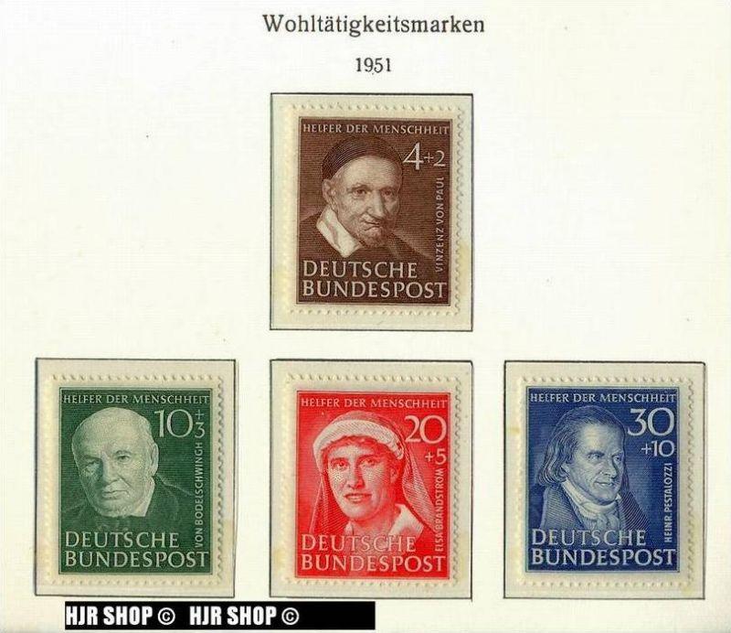 1951,Wohlfahrt (II), MiNr 143-146 ** ,  Satz 4 W