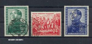 1951, Deutsch-chinesische Freundschaft, MiNr. 286, 287, 288, gest. satz 3 W