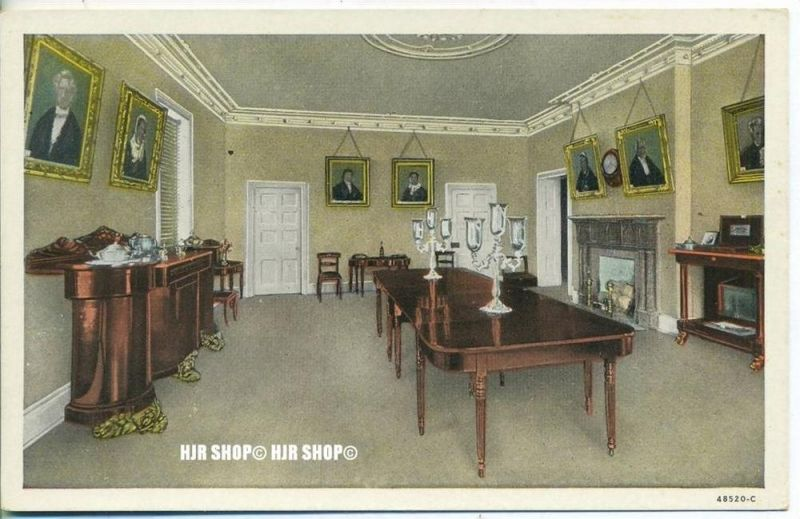 """um 1920/1930 Ansichtskarte,  """"The Hermitage Home of Andrew Jackson""""  ungebrauchte Karte"""