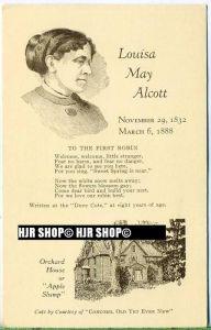 """um 1920/1930 Ansichtskarte,  """"Louisa May Alcott""""  ungebrauchte Karte"""