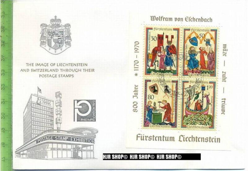 1970, MiNr. Bl. 8 FDC gest.