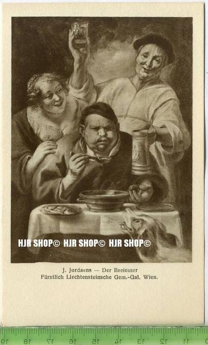 """""""J. Jordaens-Der Breiesser"""" um 1950/1960 ungebrauchte Karte"""