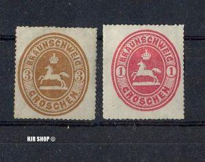 1865, 1. Okt. Freimarken: Wappen des Herzogt. Braunschweig, Mi,Nr. 18, 20*