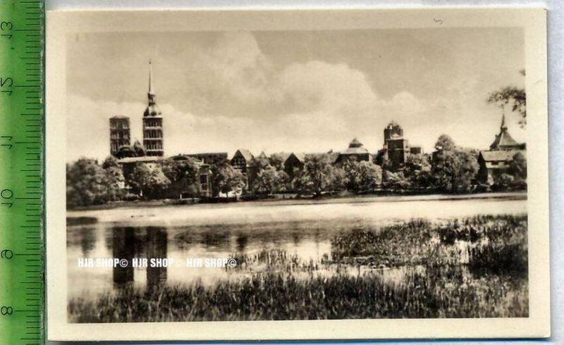 Stralsund, ca. 1920/1930,  Sammelfoto 9 x 6 cm,  Knieperteich mit Stadtansicht