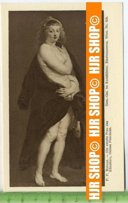 """""""P.P. Rubens, Die zweite Frau des Künstlers.""""   ungebrauchte Karte"""