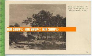 """""""Jacop von Ruisdael, Der große Wald """"   ungebrauchte Karte"""