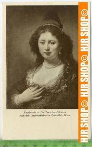 """""""Rembrandt-Die Frau des Offiziers """"   ungebrauchte Karte"""
