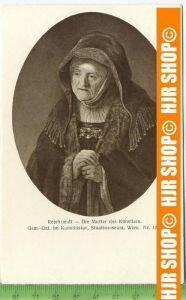 """""""Rembrandt-Die Mutter des Künstlers""""   ungebrauchte Karte"""