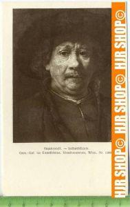 """""""Rembrandt-Selbstbildnis""""   ungebrauchte Karte"""