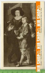 """""""Rubens-Die Söhne des Künstlers""""   ungebrauchte Karte"""