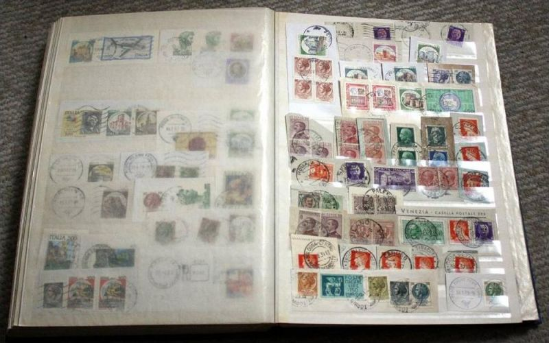 Briefstücke, Europa mit Marken und Stempel 2