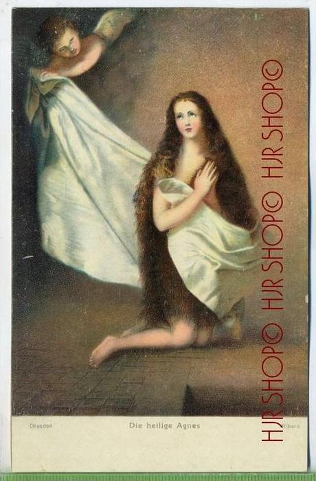 Ribara, Dresden, Die heilige Agnes Um 1900/1910 Verlag: Stengel&Co., GmbH, Dresden,  nr.29719  Postkarte unbenutzte Kart