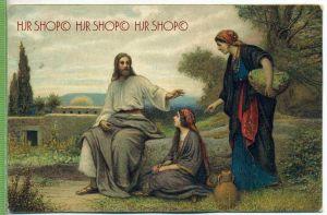 JESUS MIT MARIA&MARTHA, Mathauser Um 1900/1910 Verlag: EGMS, Serie R Nr. 60  Postkarte unbenutzte Karte ,  Erhaltung: I-