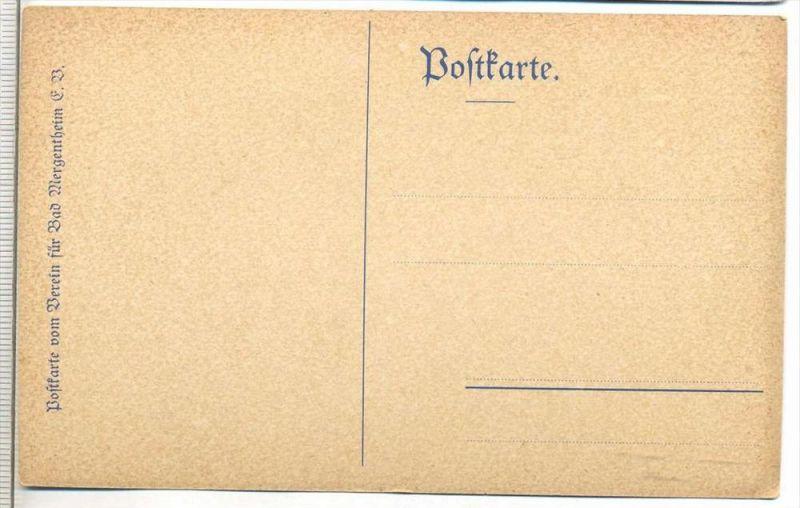 Verein für Bad Mergentheim,   Gemälde mit Reiter, Postkarte Karte wird in Klarsichthülle verschickt.(M) 1