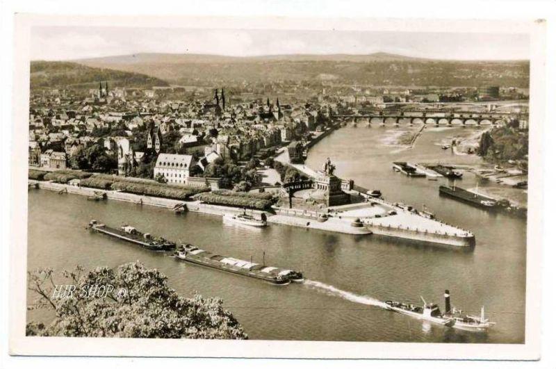 Koblenz am Rhein – Deutsches Eck, gelaufen