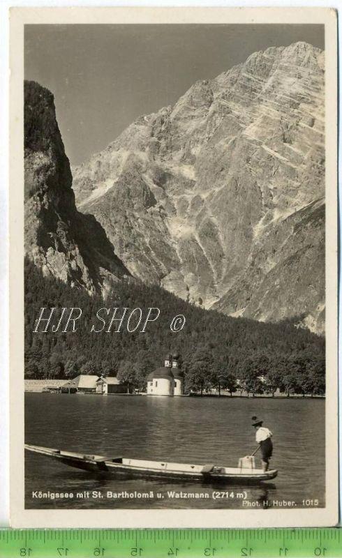 Königsee mit Bartholomä u. Watzmann (2714 m) gel. 29.07.1935