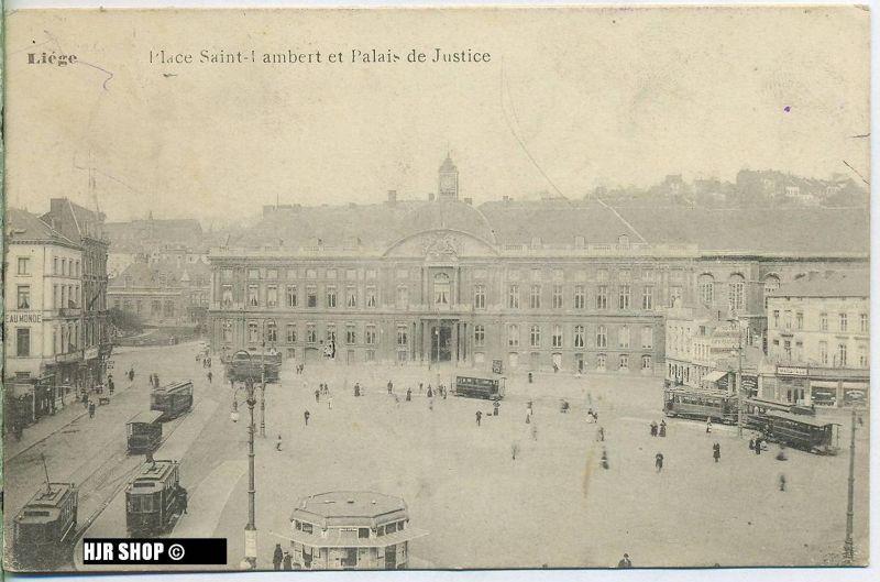 """um 1910/1920 Ansichtskarte (Feldpost) """"Liege"""",  gelaufene Karte"""