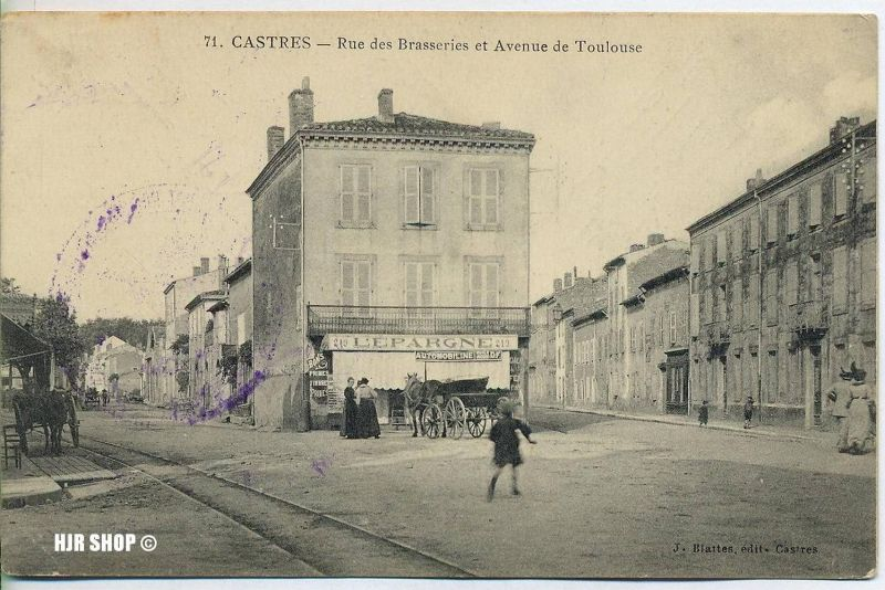 "um 1910/1920 Ansichtskarte (Feldpost) ""CASTRES"",  gelaufene Karte"