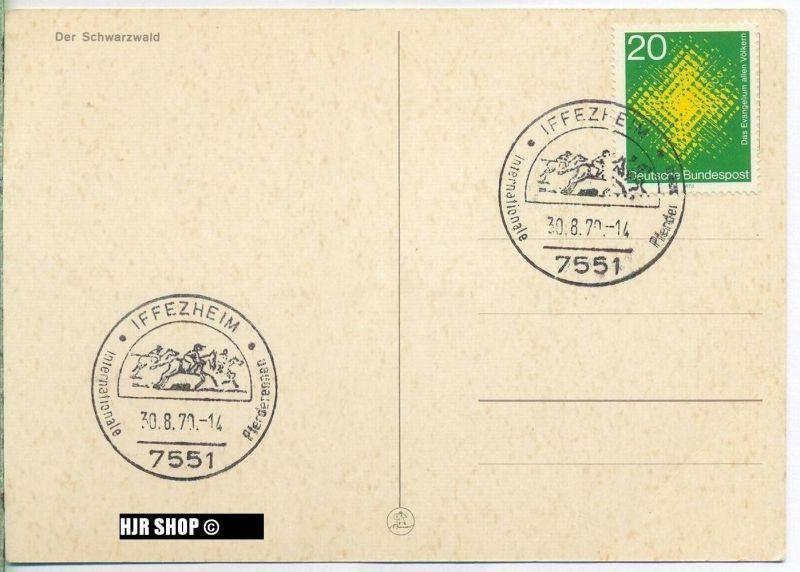 1970,  Minr. 647 Sonderstempel, auf Karte, Zustand. sehr Gut